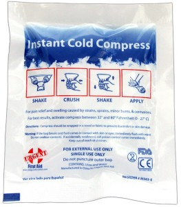 Instant Cold Compresses Chemical Cold Packs / Instant Ice Packs / Instant Cold Compresses temporarily relieve minor pain and swelling for sprains, aches and sore joints. Our Instant Chemical Cold Packs are conveniently disposable with no pre-chilling required for quick, effective relief. Be sure to note the substantial savings when purchasing in bulk quantities - from just 28¢ per pack!. New Urea Cool Packs can be expressed shipped with no Hazmat fees, too - call Toll Free for questions or information. We Manufacture our own Instant Cold packs, so the savings go straight to you - see our instant ice packs at wholesale, when you buy bulk! Check out the COOL Kids Ice packs. Also see: Ice Wrap Reusable Hot & Cold Packs Heat Packs & Warmers NEW! Hot or Cold Pack? Learn When and How to use Cold for Injuries! Where else can you buy individual and boxed cold compresses & wholesale bulk instant cold packs from 28¢?