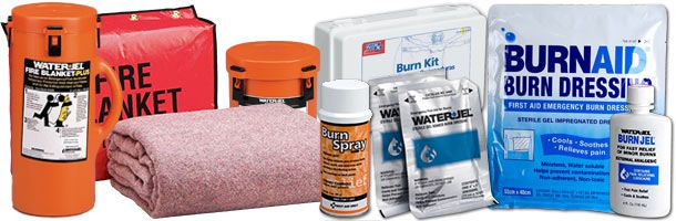 Burn Care First Aid Treatment Supplies & Fire Safety Products including Fire Blankets and Burn Kits!