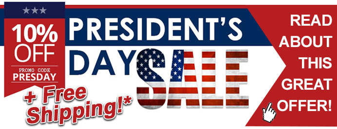 President's Day Sale! (Discounts+Free shipping)