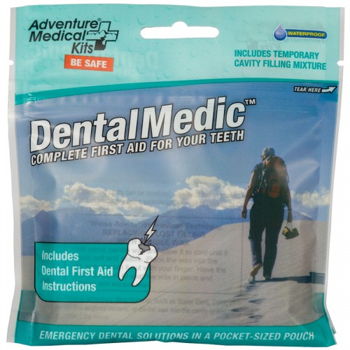 Nothing brings a person to his or her knees like a dental emergency - be it an infection, a lost filling, or fractured tooth. The Dental Medic contains the essentials for treating dental pain and injury when a dentist isn't available, from basic supplies like floss, cotton, and oral anaesthetic to more advanced components like temporary cavity filling mixture and dental wax. A must for any trip where access to a dentist may be hours or days away. Each kit in the Medic series features proprietary DryFlex bags for the ultimate in ultralight, waterproof storage.
