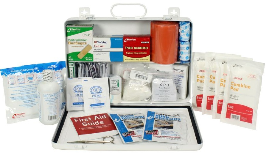 Urgent First Aid™ Bulk First Aid Kit, Metal, 198 Pieces, ANSI B, Types I II, 50 Person
