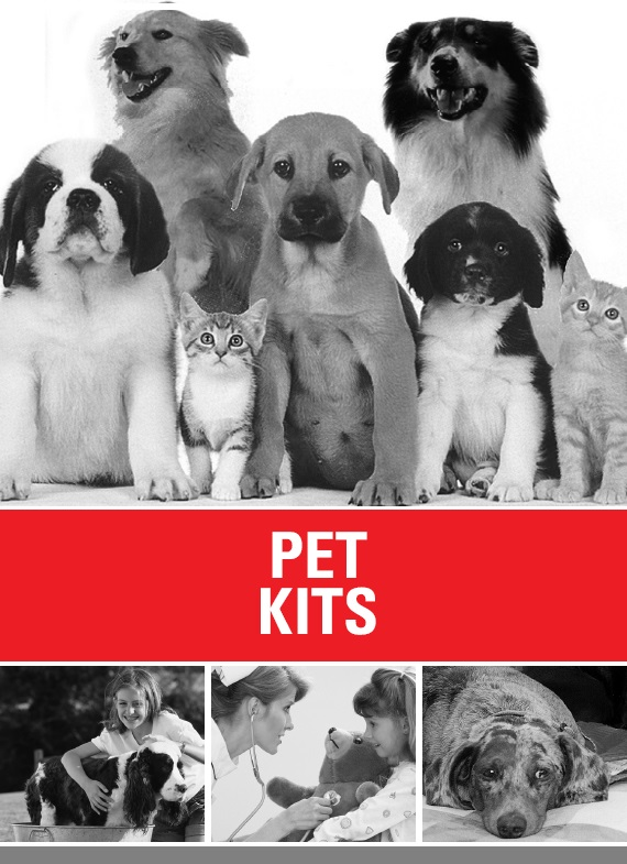 64 million US households in the US have at least one pet and 46% more than one. The APPMA's National survey counted 77.7 million cats and 65 million dogs alone . . . each needing a pet first aid kit!
