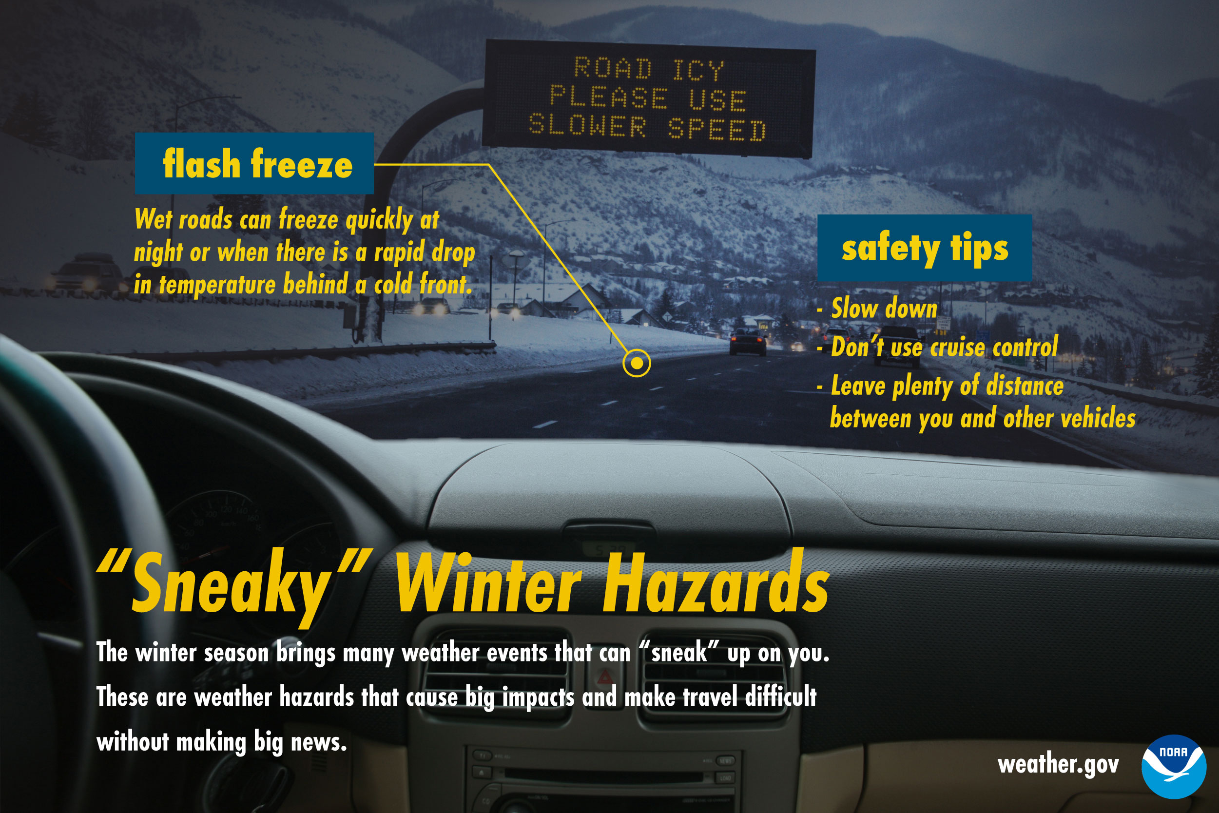 Sneaky Winter Hazards: Flash freeze