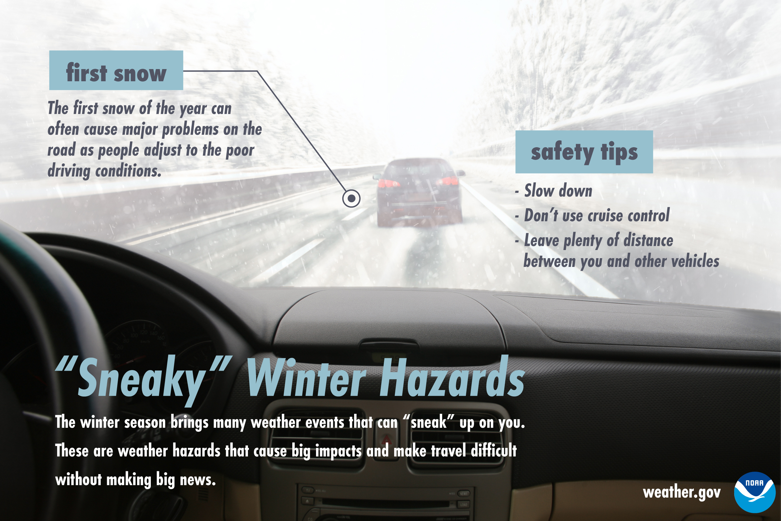 Sneaky Winter Hazards: First snow.