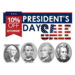 10% OFF Presidents Day Sale 2020