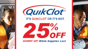 25% Off QuikClot Products, While Supplies Last