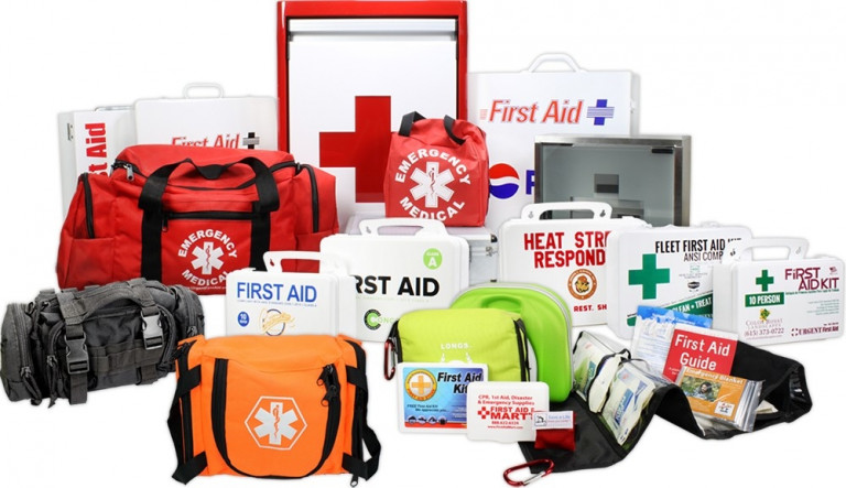 Yes! These are some examples of our past custom first aid kits, bags, and cabinets we have designed and built. Everything from a rolling emergency kit bag, rolling hanging emergency kit bag with compartments, custom trauma bags, EVA kits, custom imprinted CPR keychains, and more.