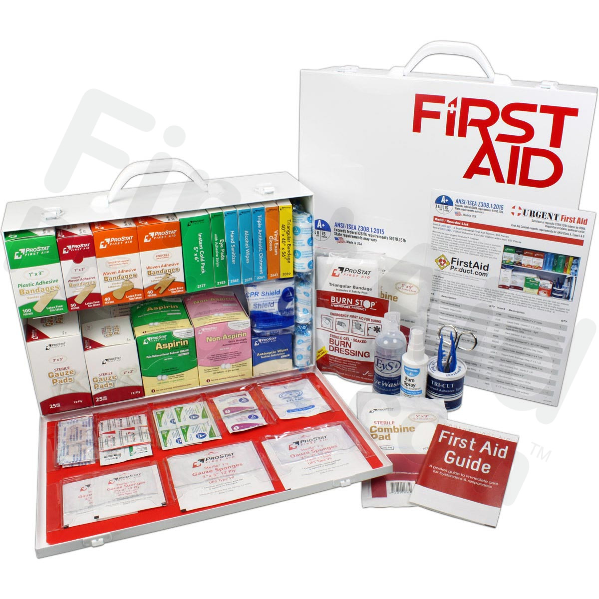 2 Shelf Industrial ANSI A+ First Aid Station with Door Pockets  sc 1 st  First-Aid-Product.com & First-Aid-Product.com: 2 Shelf Industrial ANSI A+ First Aid Station ...
