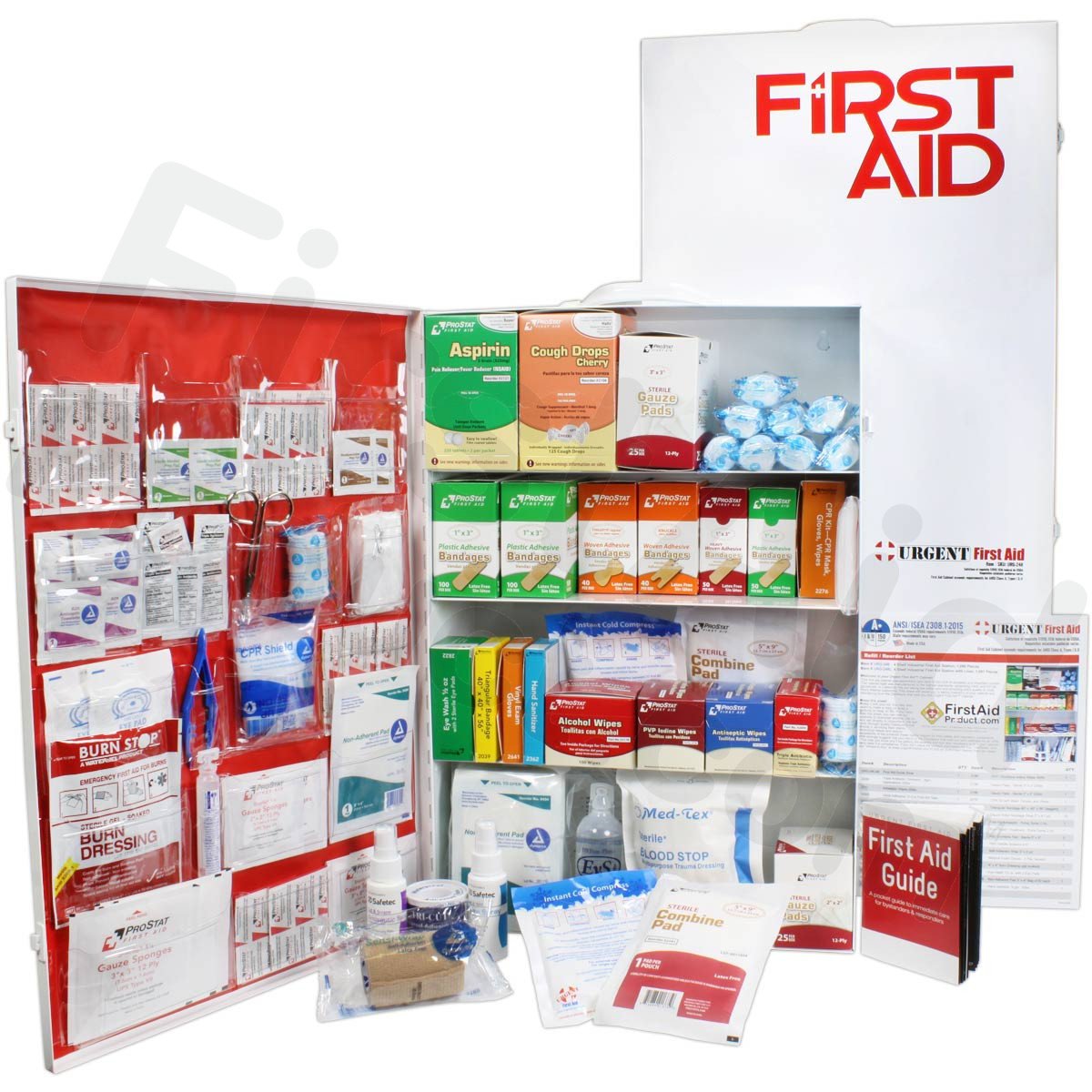 dfb2635750ec First-Aid-Product.com  4 Shelf Industrial ANSI A+ First Aid Station ...