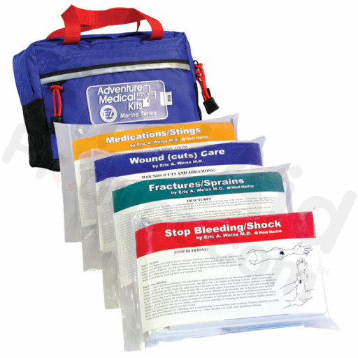 The Adventure Medical Marine 300 First Aid Kit is designed for inland use and short coastal trips on vessels carrying up to six people - compartmentalized for quick rescue aid on a boat