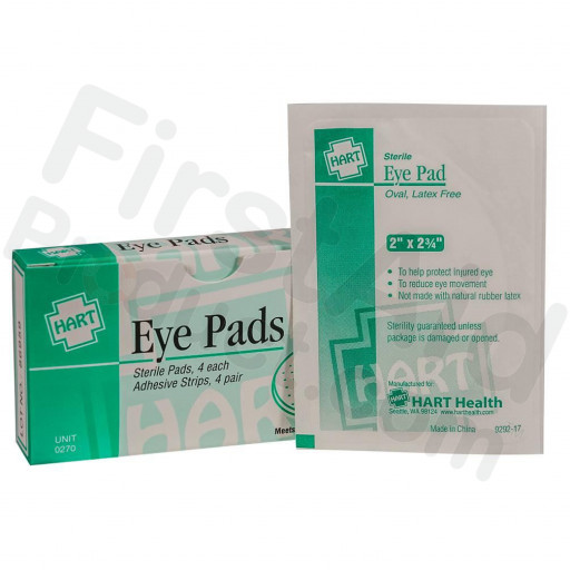 Eye Pads with Adhesive Strips, 4 Per Box