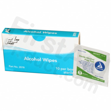 Alcohol Wipes – 10 Per Unit