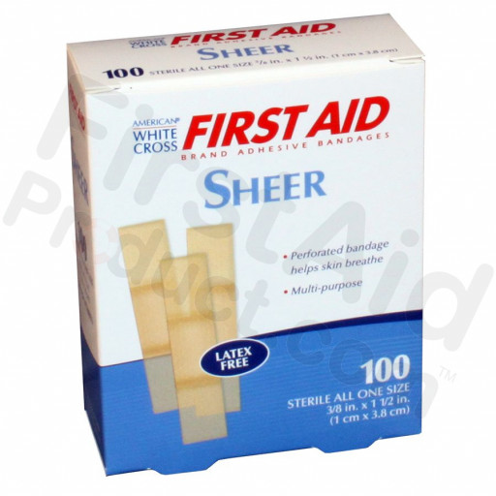 """Junior Plastic Bandage, 3/8"""" x 1 1/2"""" – 100 Per Box"""