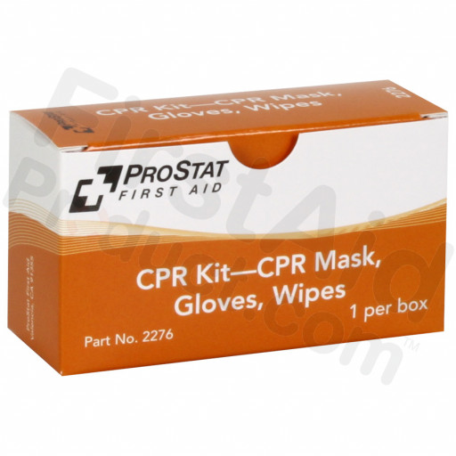 CPR KIT – CPR Mask, Gloves, Wipes, 1 Per Box