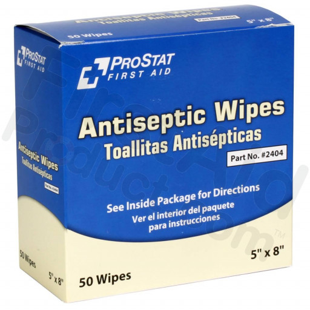 Antiseptic Wipes, 50 Per Box