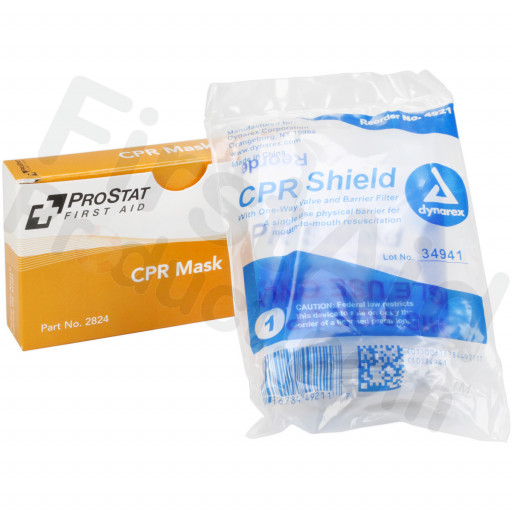 CPR Mask, One way valve, 1 per box