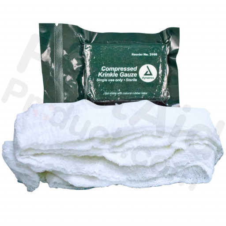 "Compressed Krinkle Gauze Bandage, Sterile, 4.5"" x 4.1yd"