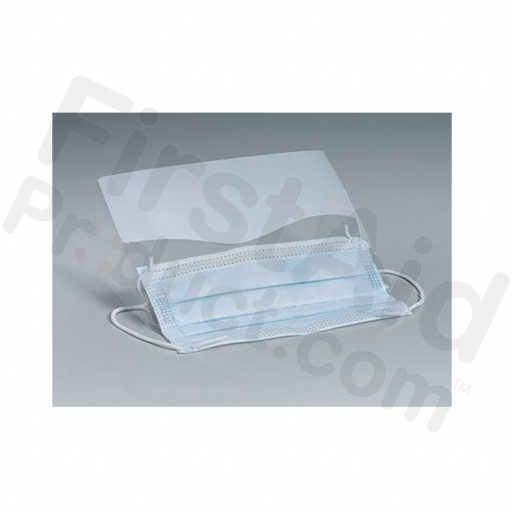 Clear, Plastic Eye Shield with Ear Loop Mask