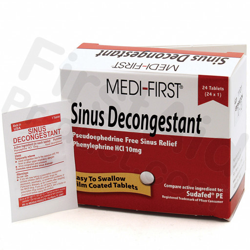 Sinus Decongestant, 24/box