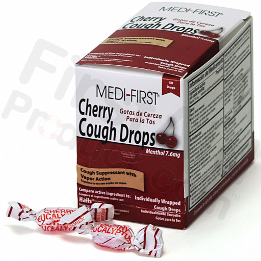 Cherry Cough Drops, 50/box