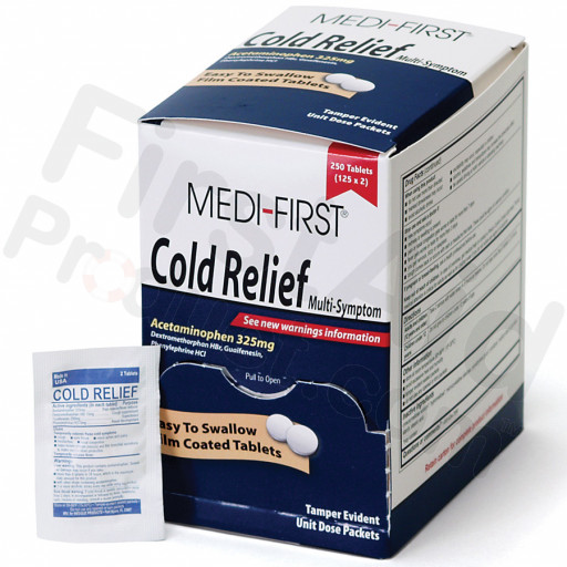Cold Relief, 250/box