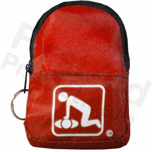 CPR Red Beltloop Keychain Backpack with Faceshield, Gloves, and Cleansing Wipes