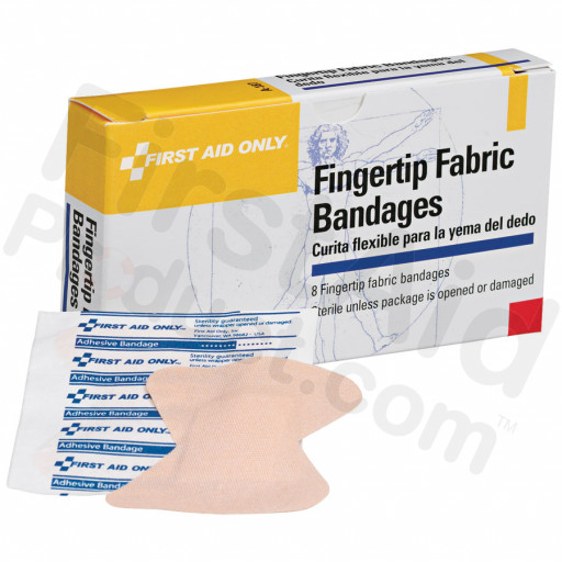 Fingertip Bandage, Fabric - 8 per box