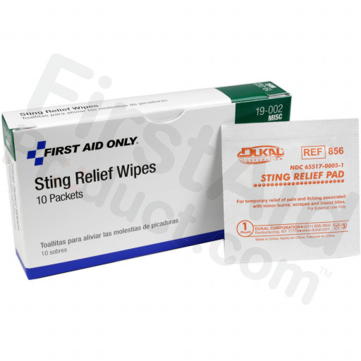 Insect Sting Relief Pad - 10 per box