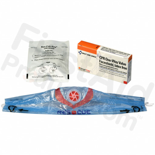 CPR one-way valve faceshield, 1 per single unit box