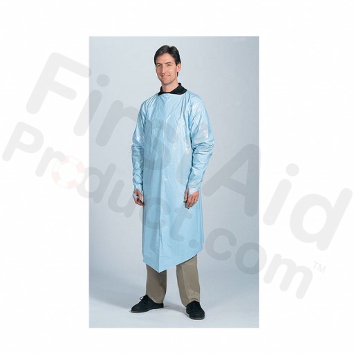 Disposable Gown with Full Sleeve, One Size Fits All, 1 per bag