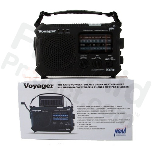 The Kaito Voyager - Solar & Crank Weather Alert Radio