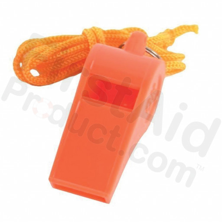 Basic Plastic Whistle with Lanyard