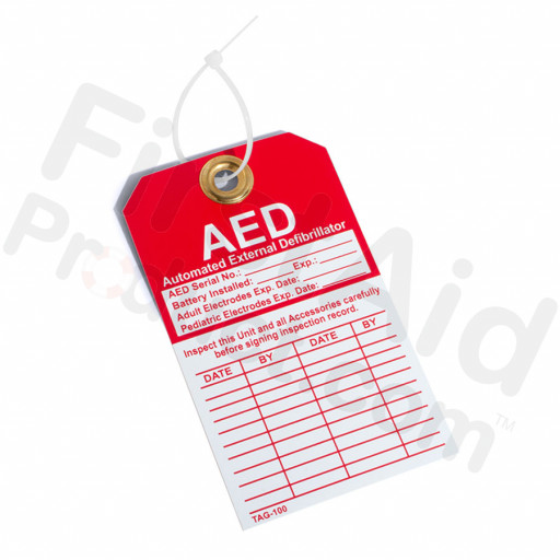 DefibTech AED Inspection Tag