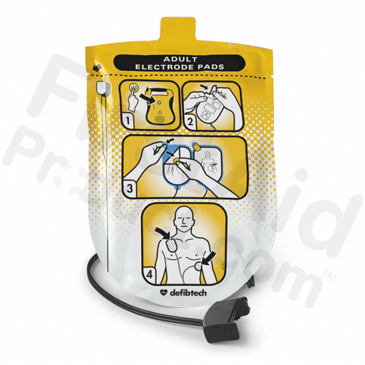 Defibtech Adult Defibrillation Pads Package