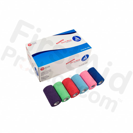"Dynarex Sensi Wrap Self Adherent Wrap - Rainbow, 3 of Each Color, 4""x 5 yards., 18/cs"