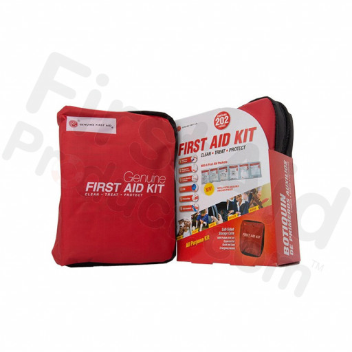 Genuine First Aid Kit Model 202 Red - 202 pieces
