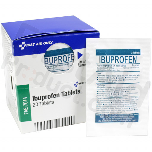 Ibuprofen Tablets, 10 packs of 2 tablets, 20 each
