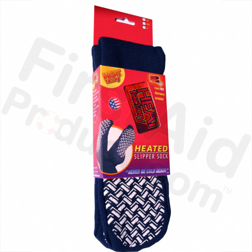 MEDIUM (Women's) - Slipper Sock w/ Warmers 1 pair by Heat Factory