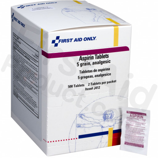 Aspirin Tablets, 5 Grain - 500 per box