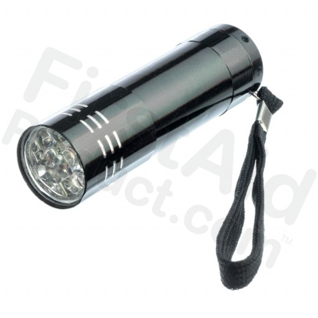 Mini Aluminum Flashlight, Uses 3 AAA Batteries