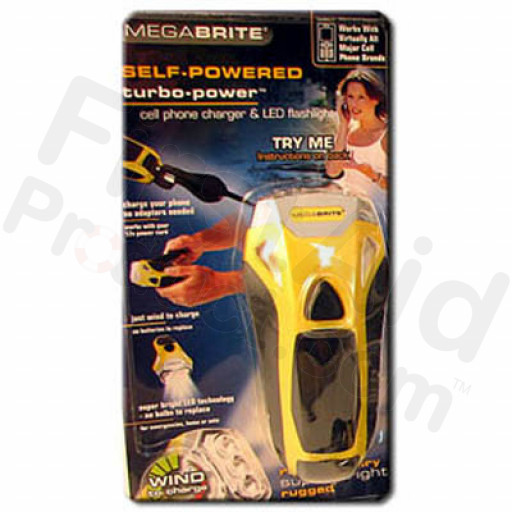 Dynamo Mega Brite Turbo Flashlight w/ Phone Charger