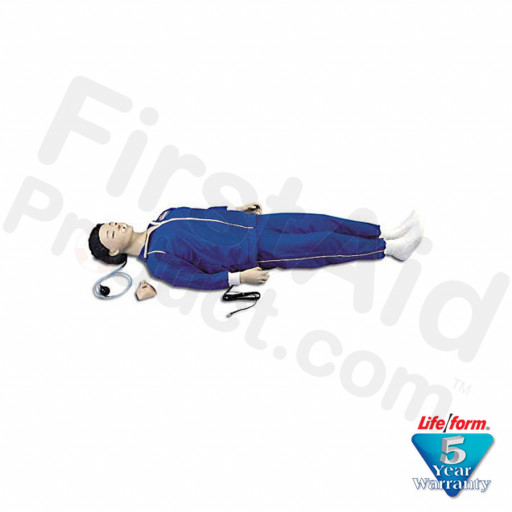 CPARLENE Brand Full Manikin with Electronic Connections, Sanitary Head & Molded Hair - Light Skin