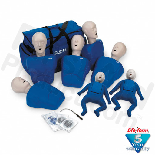 CPR Prompt Brand 7-Pack Manikins - Blue