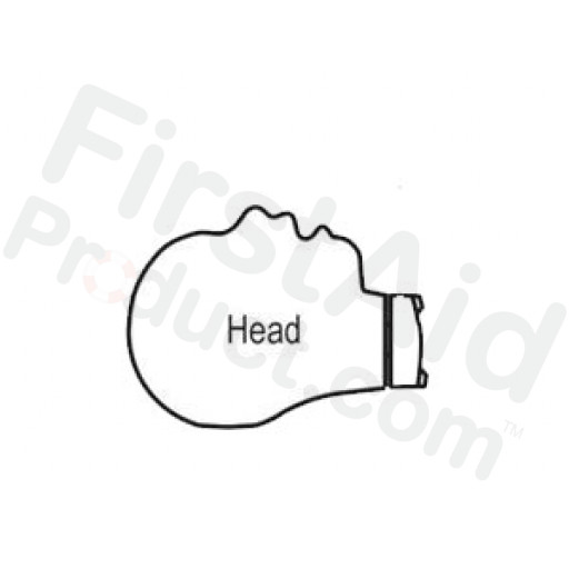 CPR Prompt Brand Infant Head Assembly for Tan Manikin