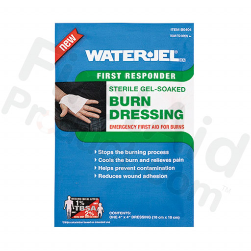 "Water Jel Brand Burn Dressing - 4"" x 4"""