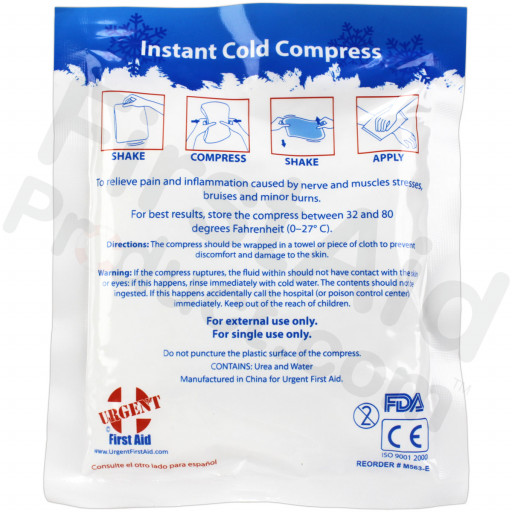 "4"" x 5"" Instant Cold Compress, 1 each"