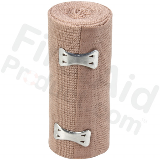 "4"" x 5 yd Elastic (Ace) Bandage with 2 Fasteners - 1 Each"