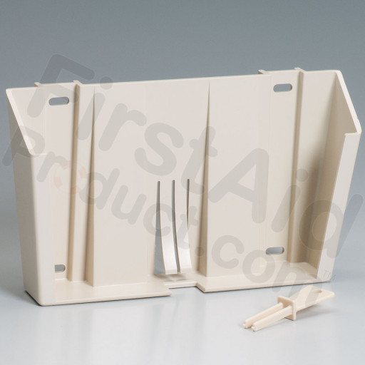 Lockable Plastic Wall Bracket with Key for 5 Quart Sharps Container