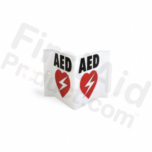 Triangular AED Wall Sign