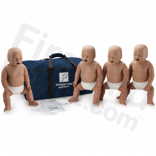 Prestan Infant CPR / AED Manikin 4-Pack without Monitor - Dark Skin